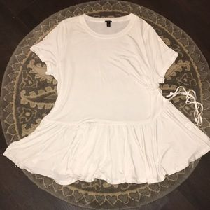 NWOT J Crew Lyocell Ruched Side Top